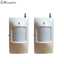 2pcs Wireless Intelligent PIR Motion Sensor Alarm Detector For GSM PSTN Home Burglar Alarm System Security Built-in antenna цена