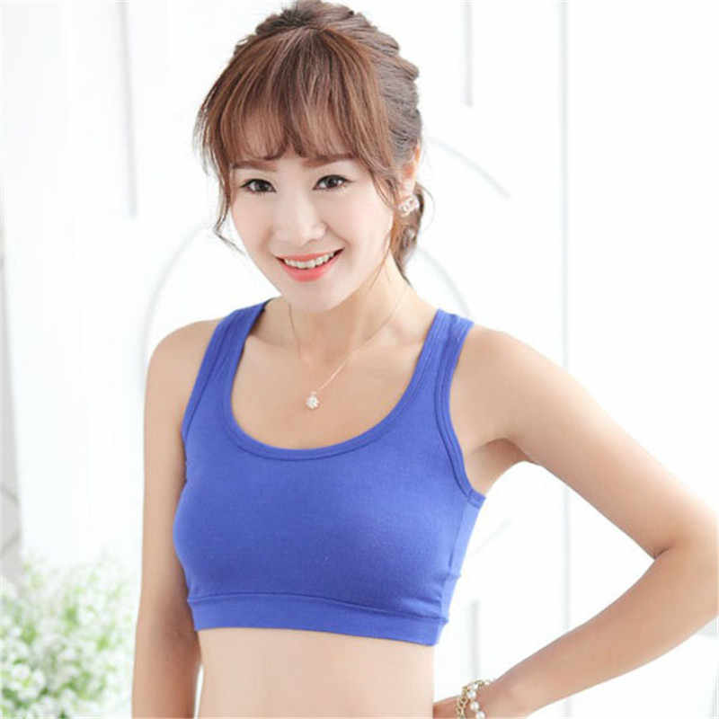58e3628869 Womens Cotton Wrapped Chest Sports Bra Tube Top Semi Vest Cropped Tops j2s
