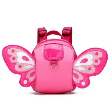 Nieuwe Kawaii Pluche Kinderen Anti-verloren Vlinder Vleugels Rugzak Speelgoed Mini Schooltas Kinderen Geschenken Kleuterschool Jongen Meisje Baby student