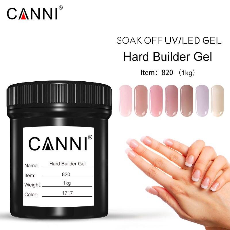 Venalisa 1000ml Hard Jelly Gel CANNI New Product 1KG Bulk Soak Off Camouflage Hard Gel 3D Nail Art Prolong Builder Gel