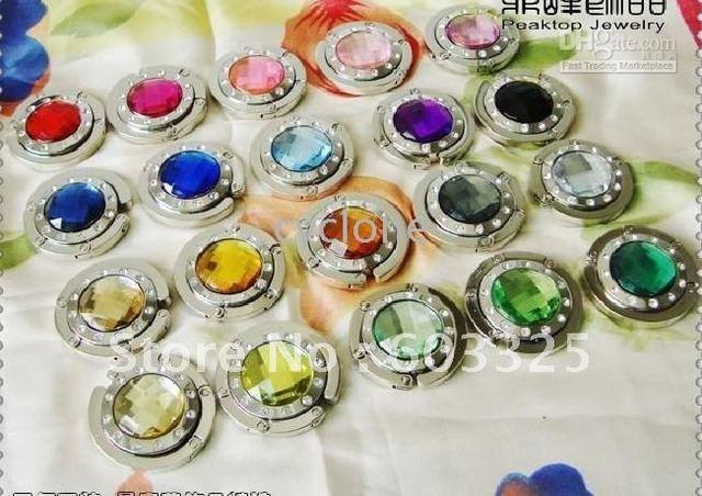 10 colors Fashion Foldable Bag Purse Holder Handbag Bag Hook Hanger 10pcs/lot