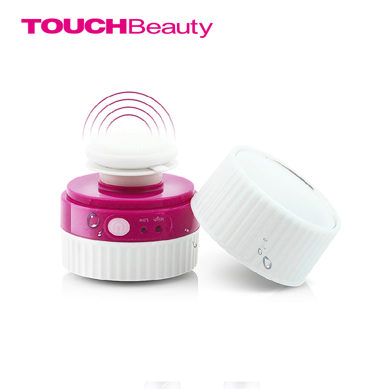 TOUCHBeauty sonic face cleansing brush with  built-in mirror & pivoting head TB-1281 touchbeauty 3 in1 rotating facial cleansing brush set with 3 replacement brush heads 2 speed settings with storage box tb 0759a