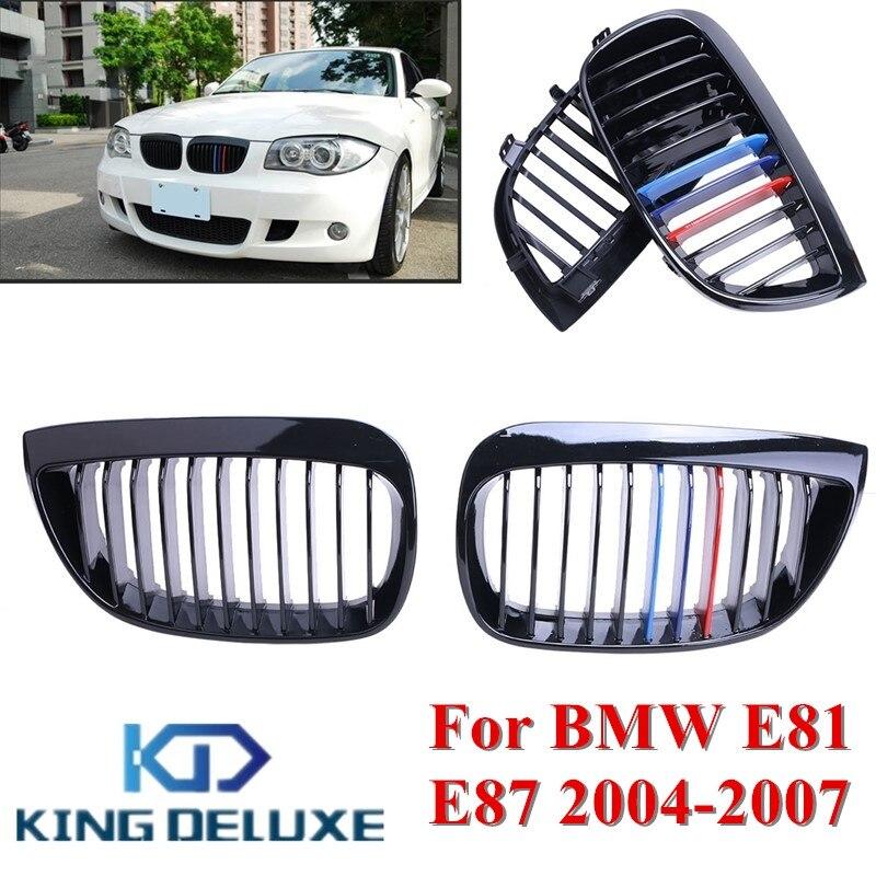 Front Grille Grill For BMW 116i 118i 120d 120i 128i 135i Hatchback M Sport E81 2007-2012 E87 2004-2011 1 Series #P287 15pc error free led interior reverse light kit for bmw 1 series e87 e81 116i 118d 118i 120d 120i 123d 130i 135i 03 11
