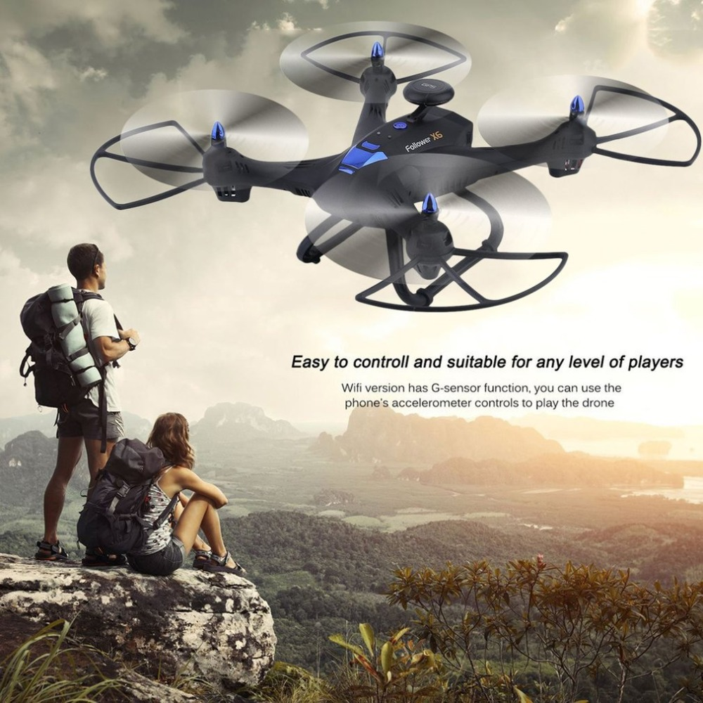 X183 Wifi Drone With 2MP HD Portable GPS Quadcopter 6 Axles RC Quadcopter Compact Photography Video Device