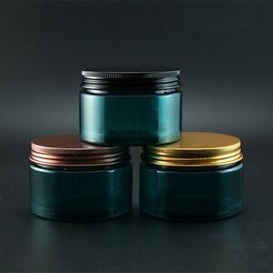 Image 3 - 120 גרם ירוק למילוי חוזרים בקבוק קרם פלסטיק צנצנת קוסמטית מכולות אריזת אבקת מסיכת קרם גוף אור להימנע בלתי נראה
