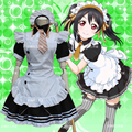 Love Live Cosplay Nico Yazawa Costume Kawaii Sweet Lolita Maid Dress Clothing Wig Gloves Bustle girl Love Live Costume
