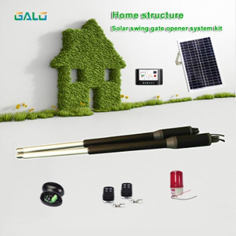 Solar power system home auto aluminium swing gate opener