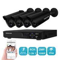SUNCHAN 1080P 8CH Full HD AHD DVR Security Camera System 4 1080P DVR DIY Video Kit