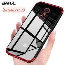 цена на For Xiaomi Redmi 5 Plus Case Cover Transparent Fundas Soft TPU Slim Back Cover For XiaoMi Redmi 5Plus 6 Pro 6A 7 7A Case Phone Coque