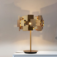 Designer Gold Desk Lamp Modern Gold Stainless Steel Table Lamp Living Room Bedroom Light Fashion Bedside Table Lamp