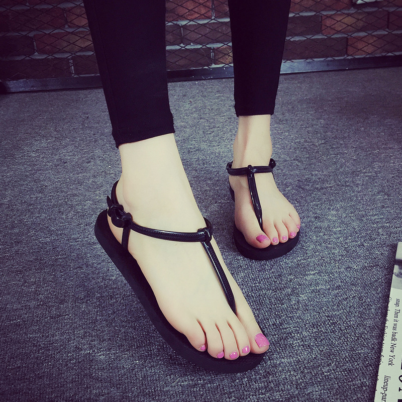 Gladiator Sandals Women Rome Sandals Women Flat Shoes Female Flip Flops Summer T Stripe Beach Shoes Non-slip Black Zapatos Mujer beach shoes woman sandals summer gladiator sandals ladies t stripe flip flops casual shoes flat slip on sandalias zapatos mujer