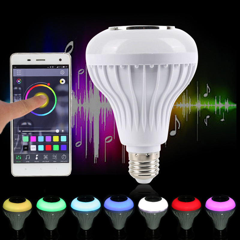 Smart Wireless Bluetooth Speaker Music Playing Dimmable LED Light 10W E27 LED Bulb Led Light 110-240V wireless bluetooth speaker led audio portable mini subwoofer
