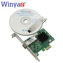 Winyao PCI-E X1 WY5715F 1000 Мбит Волокна Gig Ethernet Сетевой Адаптер Карты 1 Г 850nm LC Оптический Модуль Для Broadcom bcm5715 NIC