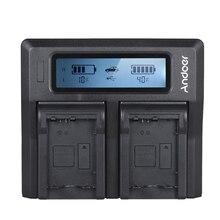 Andoer NP FW50 NPFW50 デュアルチャンネル液晶デジタルカメラソニー A7 A7R A7sII A7II A6500 A6300 A7RII NEX シリーズ