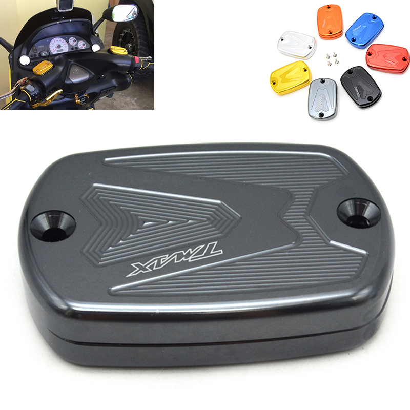 Motorcycle CNC  Front Master Cylinder Cover Brake Fluid Reservoir Cap Cover For Yamaha Tmax 530 2012-2015 Tmax 500 2008 - 2011 motorcycle cnc front brake reservoir fluid cap cover for kawasaki z250 z750r 11 15 z1000 10 15 gtr1400 07 15