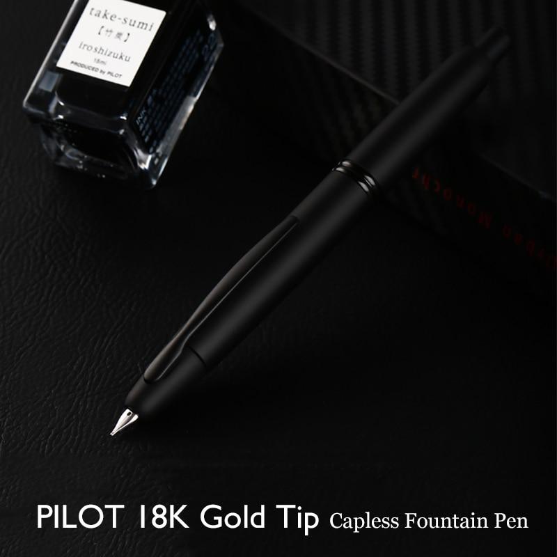 LifeMaster Pilot Namiki Point Fountain Pen 18K Gold Capless Black Matte Body With Con 40 Ink Converter Men Gift