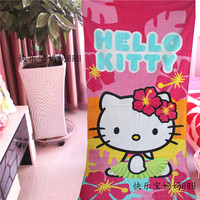 1X 155 75cm Kawaii Hello Kitty Absorbent Bath Towel Travel Swim Spa Beach Towels For Kids