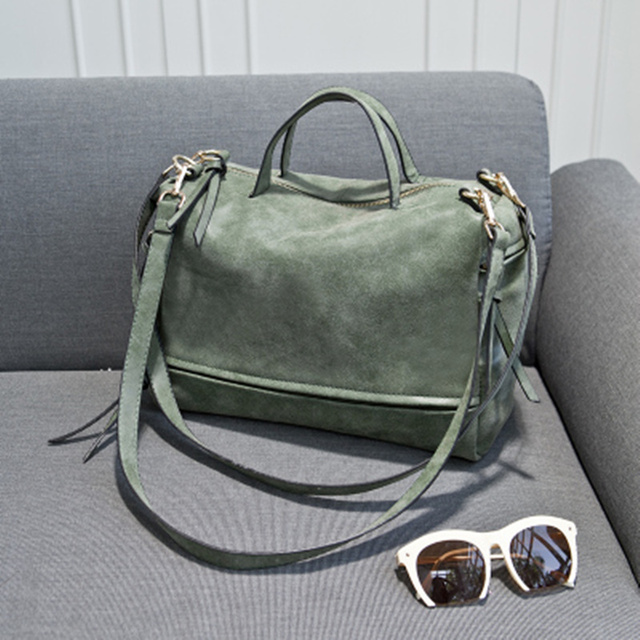 Bolish Brand Fashion Female Shoulder Bag Nubuck Leather women handbag Vintage Messenger Bag Motorcycle Crossbody Bags Women Bag 2