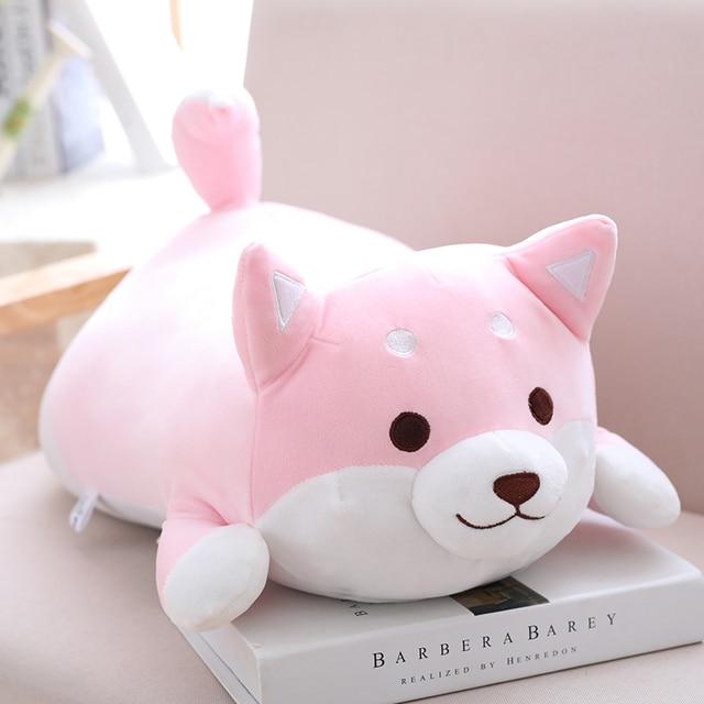 Pink Shiba Plush Pillow