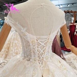 Image 4 - AIJINGYU ロングささやかなドレスガウンシンガポールとロングテールインドネシアプラスサイズ花嫁レース WeddingGown Bridalwear
