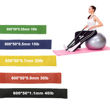 Natuur Latex Rubber Gom Yoga Weerstand Band Oefening Fitness Elastische Band Expander Hip Pilates Sport Training Workout Apparatuur(China)