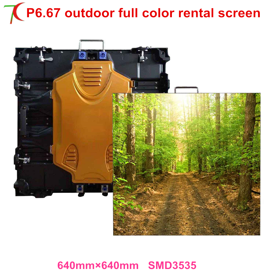 P6.67 smd outdoor 640*640mm rental cabinet widely use for in stages, conference, wedding, studios ,6000cd ...