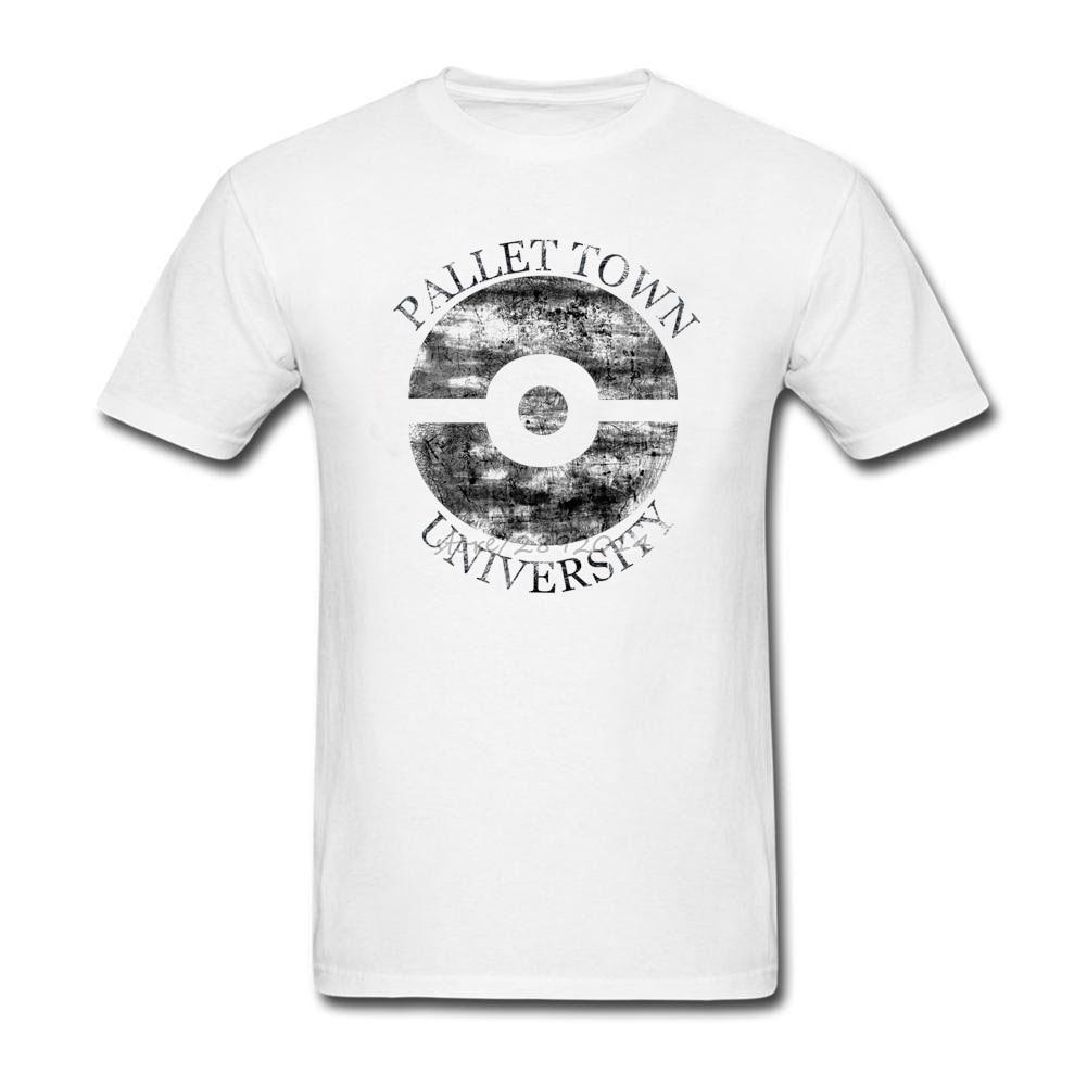 Design t shirt universiti - Pallet Town University Male T Shirt Short Sleeve B