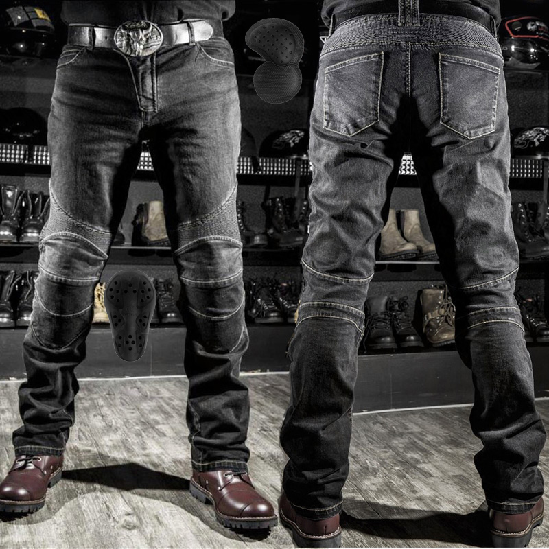 2019 hot sale Komine motorcycle leisure motorcycle men's cross-country outdoor riding jeans with protective equipment knee pads image