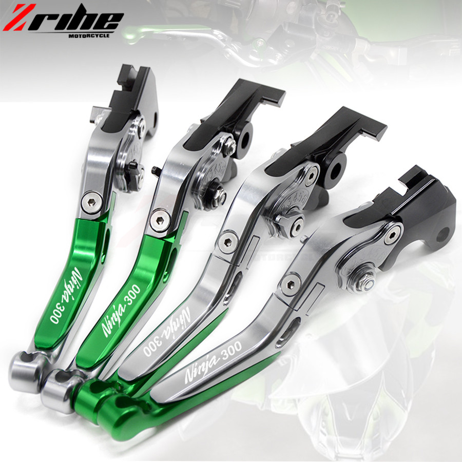motorcycle brake clutch levers Folding Extendable Adjustable CNC Aluminum Brakes Clutch Levers For Kawasaki NINJA 300R 2013-2016 for ducati multistrada 1200 dvt 2015 motorcycle accessories cnc billet aluminum folding extendable brake clutch levers