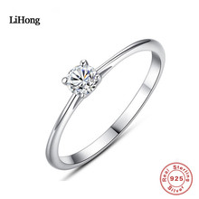 925 Sterling Silver Ring AAA Zircon Silver Ring Wed