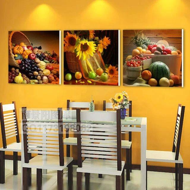 3 unidades pintura al leo art pictures frutas pinturas - Pinturas para cocina ...