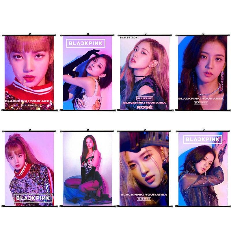 1pc Kpop BLACKPINK Album Mini Wall Scroll Poster Poster