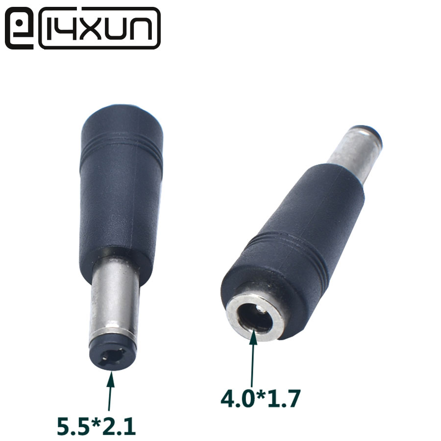 1pcs 5.5*2.1/5.5X2.1 mm Male to 4.0*1.7/4.0 x 1.7 mm Female AC DC Power Connector Adapter Laptop