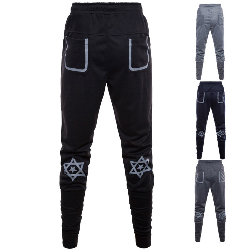 fashion Men sweatpants cotton Casual Haren men's printing Pants mens Beam Foot Trousers Slacks