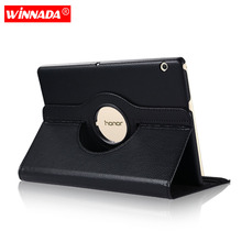 Case for huawei mediapad t3 10 360 Degree Rotating PU Leather Smart tablet Cover for Honor Play Pad 2 9.6 inch AGS-L09 AGS-L03 2in1 360 degree rotating case for alcatel onetouch a3 10 4g 10 1 inch tablet universal cover case no camera hole stylus