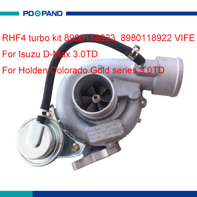US $179 88 15% OFF|engine turbo kit RHF4 turbocharger supercharger  8980118923 8980118922 for Isuzu D Max Holden Rodeo Colorado 3 0L FE 1106  diesel-in
