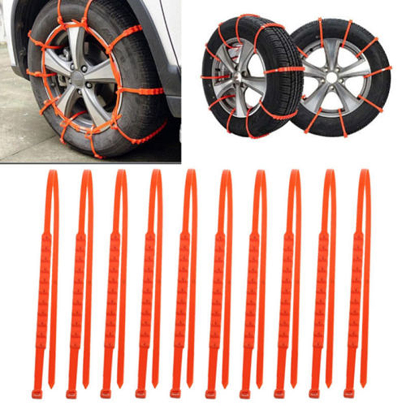 Car Universal Mini Nylon Winter Tyres Wheels Snow Chains Car Truck Snow Mud Wheel Tyre Tire Cable Ties Dropshippinp N27