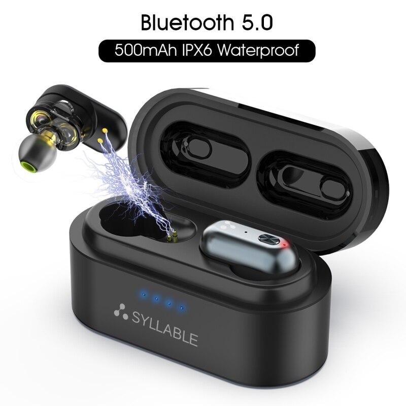 Original syllabe S101 QCC3020 puce bluetooth V5.0 basse écouteurs sans fil contrôle du Volume casque réduction du bruit syllabe S101
