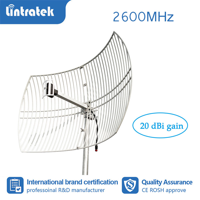 20dBi Gain Strong Grid Antenna 2600 Mhz External Antenna For 4G LTE Mobile Phone Signal Booster Repeater Amplifier #7