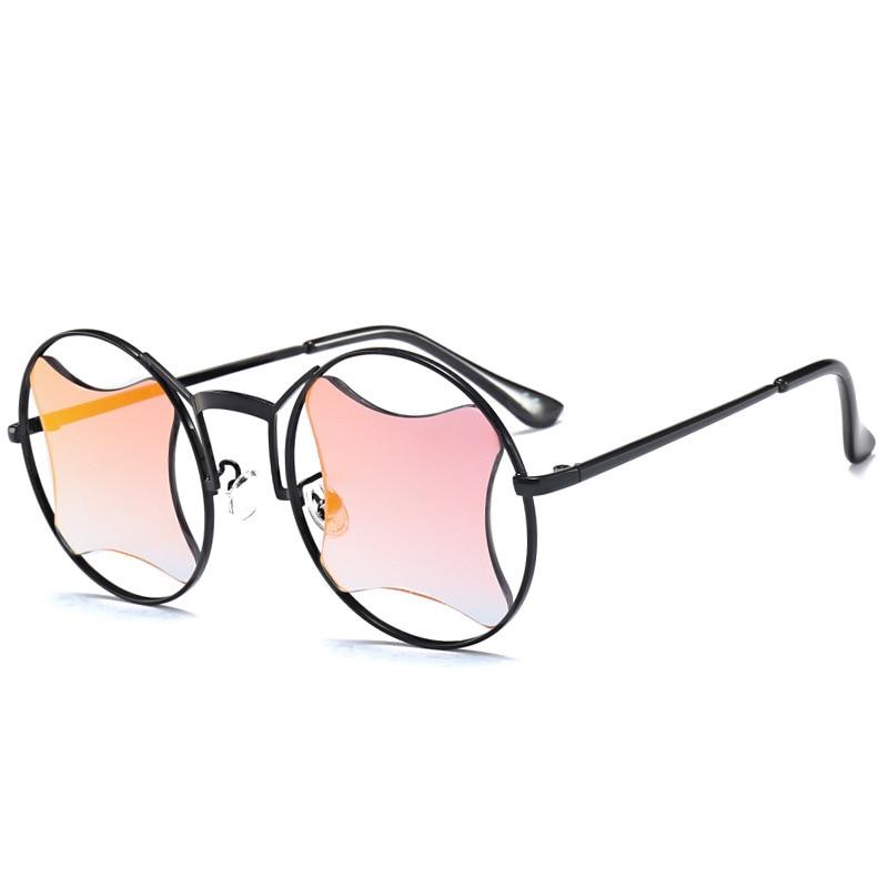 DOKLY Special Shape Lens Sunglasses Metal Frame Eyewear