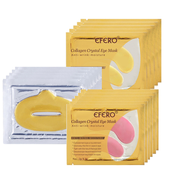 20Pack Anti-Wrinkle Eye Mask Moisturizing Remove Dark Circle Gel Pads for Eye+10Pack Gold Collagen Lip Mask Hydrating Lip Patch Facial Care