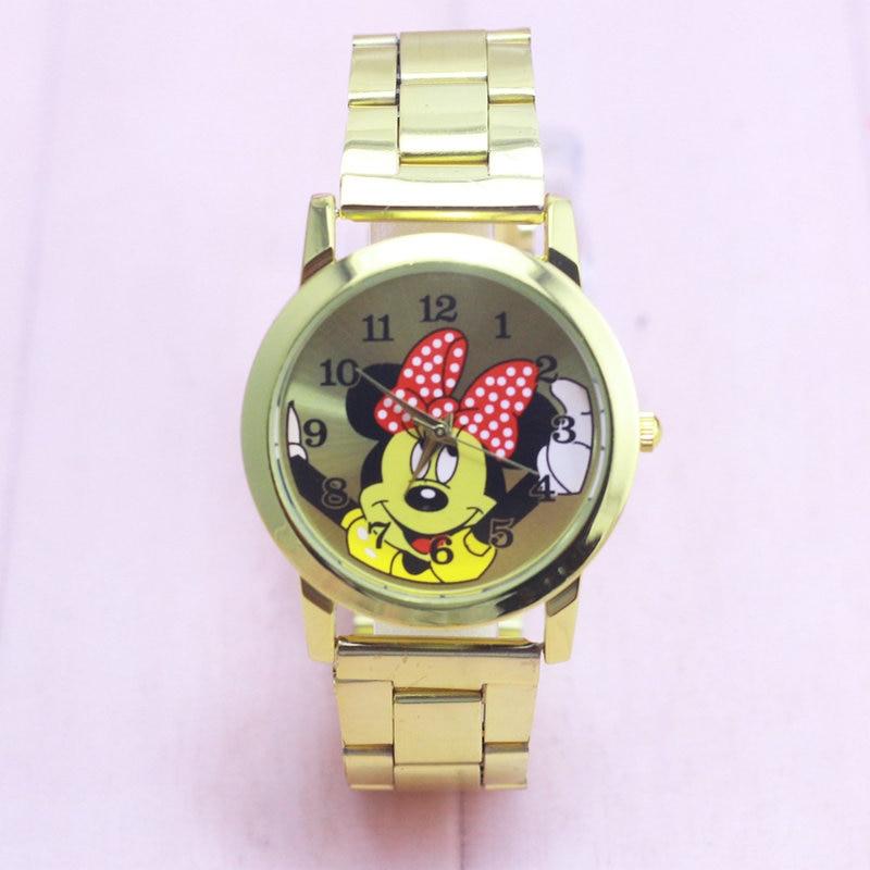 New Fashion Delicate wristwatches quartz watch women rhinestone dress watches mickey Minnie watch kids watch
