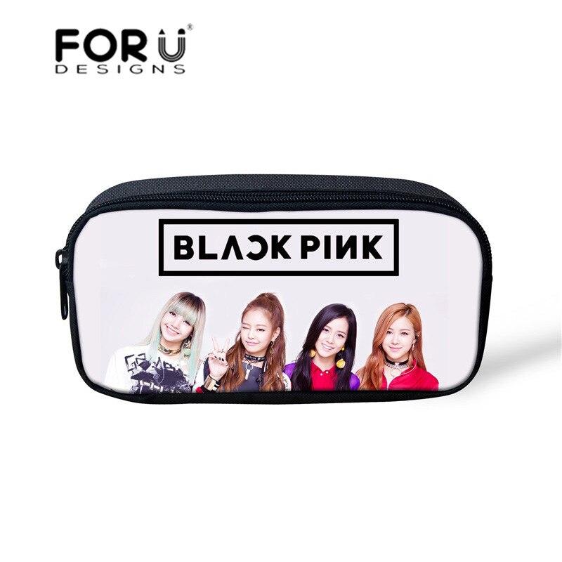 Forudesigns Kpop Blackpink Jisoo Jennie Rose Lisa Cosmetic Bag Case
