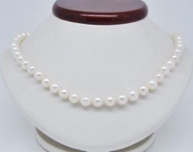 Mode 8 mm AAA blanc South Sea Shell perle perles rondes collier 18 '' usine prix de gros femmes mot de cadeau bijoux
