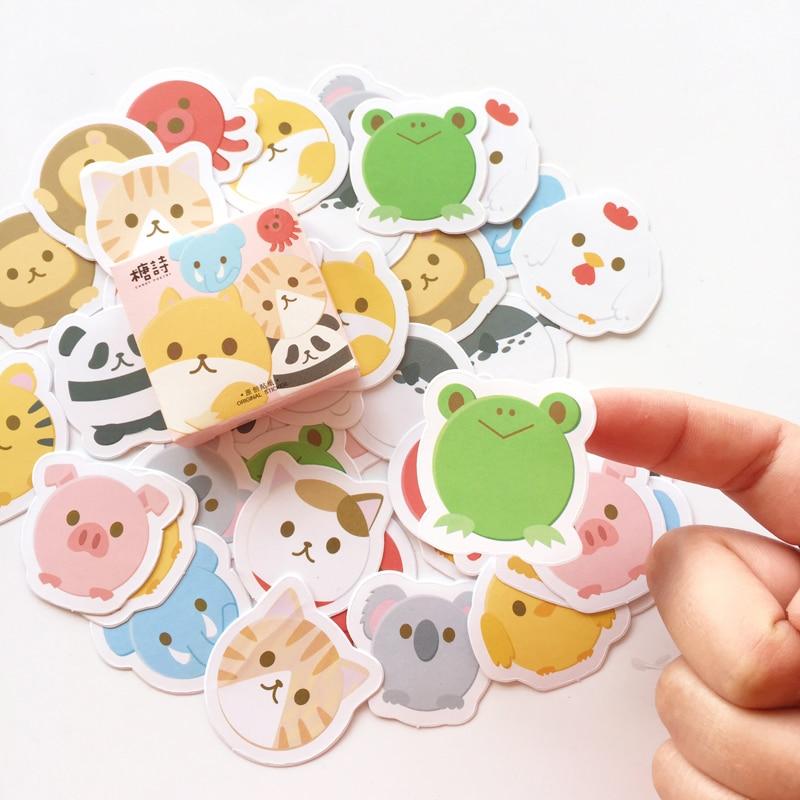 45 Pcs /pack Panda Pig Rabbit DIY Decorative Stickers Phone Bottle Sealing Decor Stick Label E57