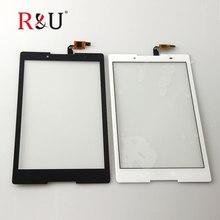 R & T Panel de Pantalla Táctil Digitalizador Del Sensor de Cristal fuera de la pantalla de color blanco y Negro para Lenovo Tab 2 Tab2 A8-50F A8-50LC