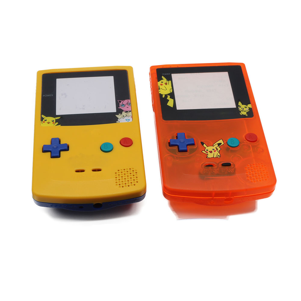 Gameboy color - For Game Boy Color Pokemon Limitd Edition Clear Orange Yellow Replacement Housing Shell For Gbc Housing Case Pack In Cases From Consumer Electronics On