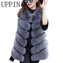 UPPIN Winter Warm Vest New Arrival Fashion Women Import Coat Fur Vest High-Grade Faux Fur Coat Fox Fur Long Vest Plus Size S-3XL(China)