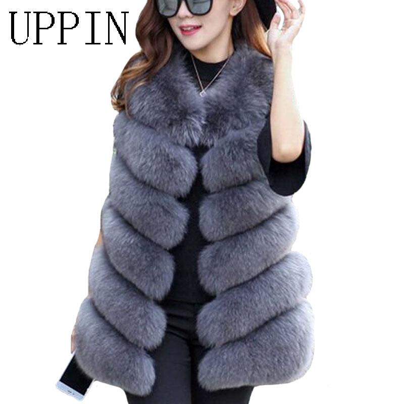 Pan Hui Women Winter Cotton Padded Long Down Vest with Faux Fur Trimmed Hood Casual Zipper Front Puffer Vest Jacket