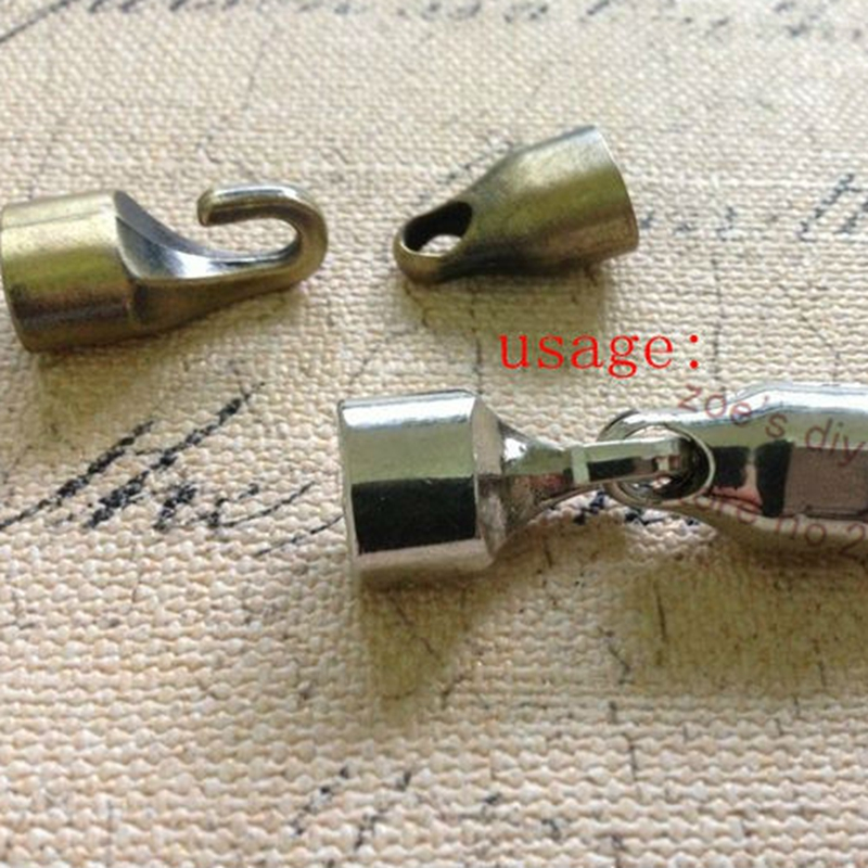 10 Sets/Pack ( For 10*6mm Leather Cord ) Alloy Rope Buckle Clasps & Hooks DIY Jewelry Accessories